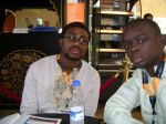 With my colleague, Mr. Donald Mkpanam having a break before the Conference (Gitex 2011)