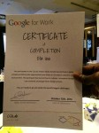 My Certificate of Completion (Google Certified Skills for Innovation - Gitex 2014)