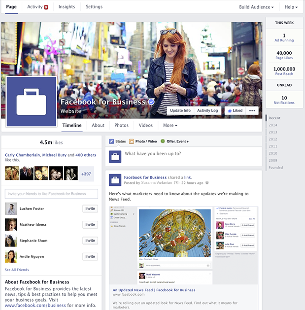 Streamlined Facebook Pages