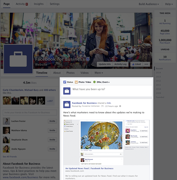 Updated Facebook Page Timeline