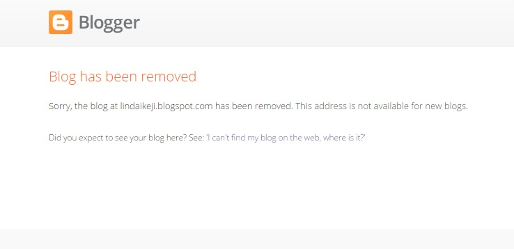 Linda Ikeji Blog Taken Down