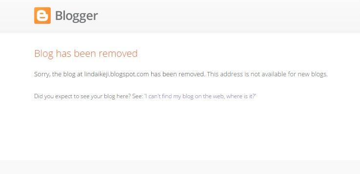 Linda Ikeji Blog Taken Down