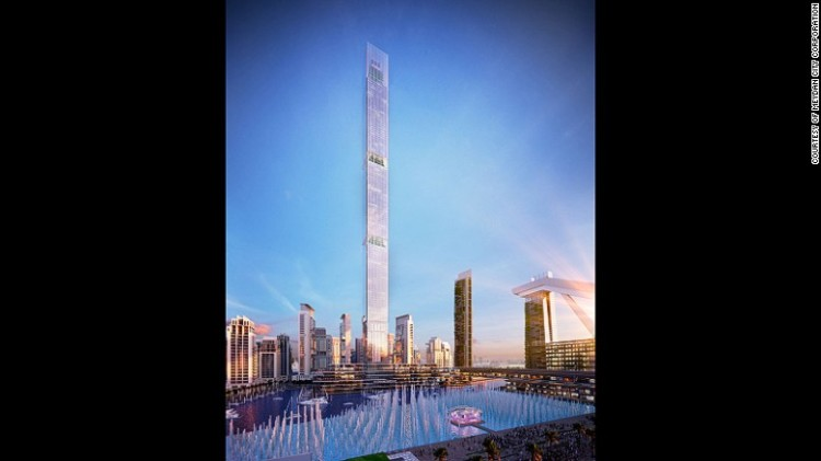 Dubai One Tower - The 711-meter Dubai One Tower would be the tallest residential building in the world.