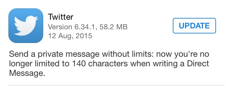 Twitter's DMs will now closely resemble chat app messages, with no 140-character limit.